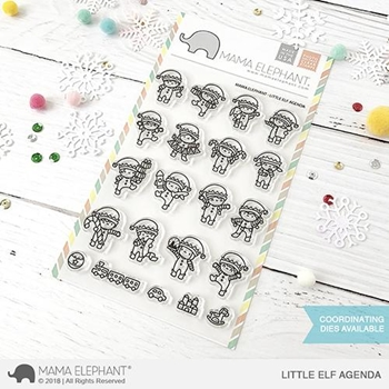 Mama Elephant Clear Stamps LITTLE ELF AGENDA *