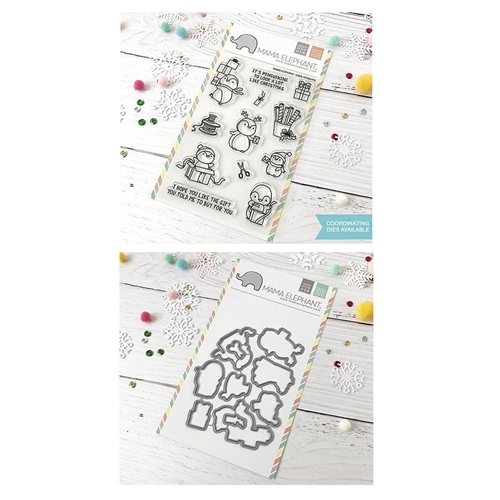 Mama Elephant Clear Stamp and Die MEPT512 Cool Penguins SET Preview Image