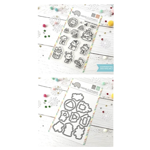 Mama Elephant Clear Stamp and Die MEPT533 Yappy Woofmas SET Preview Image