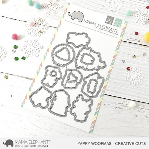 Mama Elephant YAPPY WOOFMAS Creative Cuts Steel Dies Preview Image