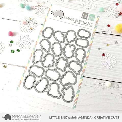 Mama Elephant LITTLE SNOWMAN AGENDA Creative Cuts Steel Dies zoom image