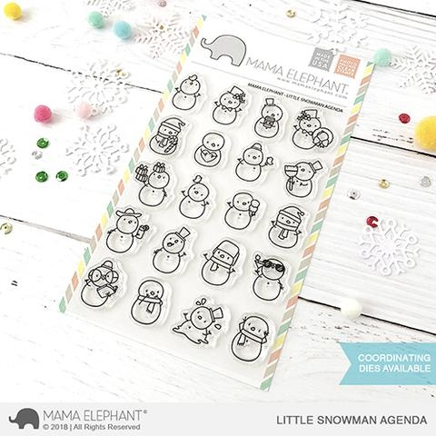 Mama Elephant Clear Stamps LITTLE SNOWMAN AGENDA Preview Image
