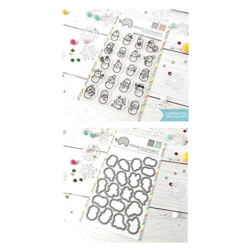 Mama Elephant Clear Stamp and Die MEPT524 Little Snowman Agenda SET Preview Image