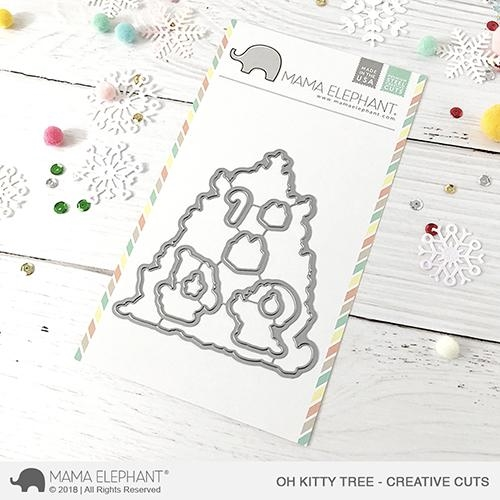 Mama Elephant OH KITTY TREE Creative Cuts Steel Dies zoom image