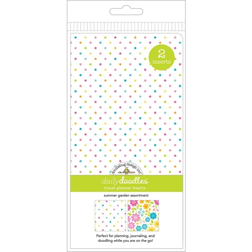 Doodlebug SUMMER GARDEN GRID AND DOT Travel Planner Inserts Daily Doodles 6011* Preview Image