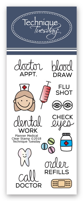 Technique Tuesday MEDICAL PLANNER Clear Stamps 02688 zoom image