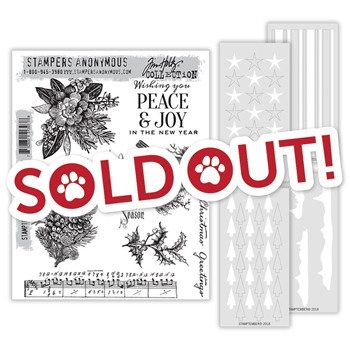 Tim Holtz STAMPTEMBER Exclusive Cling Rubber Stamps and Stencils 51393th