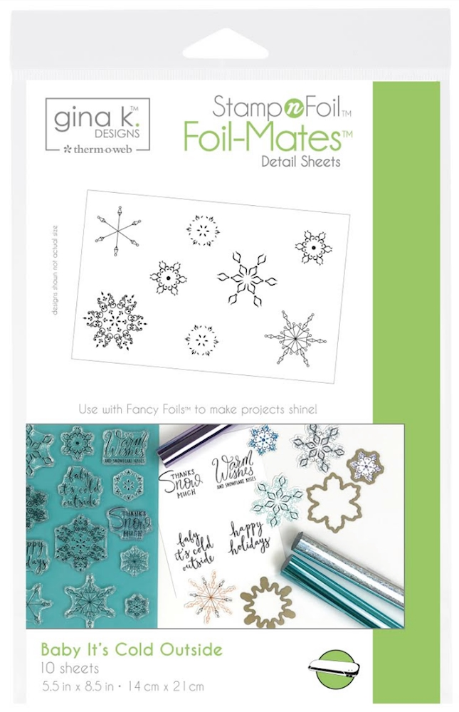 Therm O Web Gina K Designs BABY IT'S COLD OUTSIDE Foil-Mates 18118 zoom image