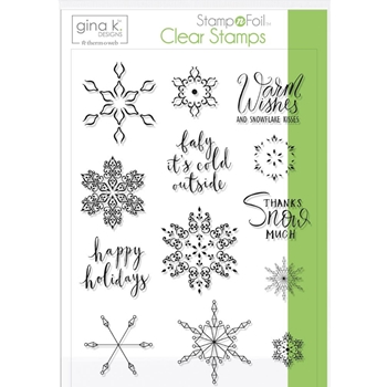 Therm O Web Gina K Designs BABY IT'S COLD OUTSIDE Clear Stamps 18120