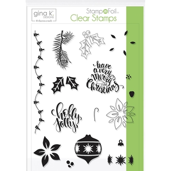 Therm O Web Gina K Designs HOLLY JOLLY Clear Stamps 18119*