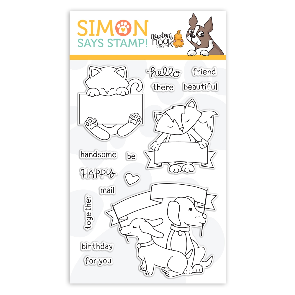 Newton's Nook Clear Stamps HELLO BEAUTIFUL sss101933 STAMPtember Exclusive zoom image