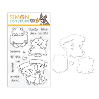 Newton's Nook Clear Stamp and Die Set HELLO BEAUTIFUL SR18SETNNB STAMPtember Exclusive
