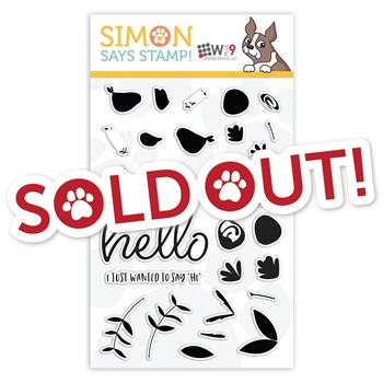 Wplus9 Clear Stamps SAYING HI sss101926 STAMPtember Exclusive