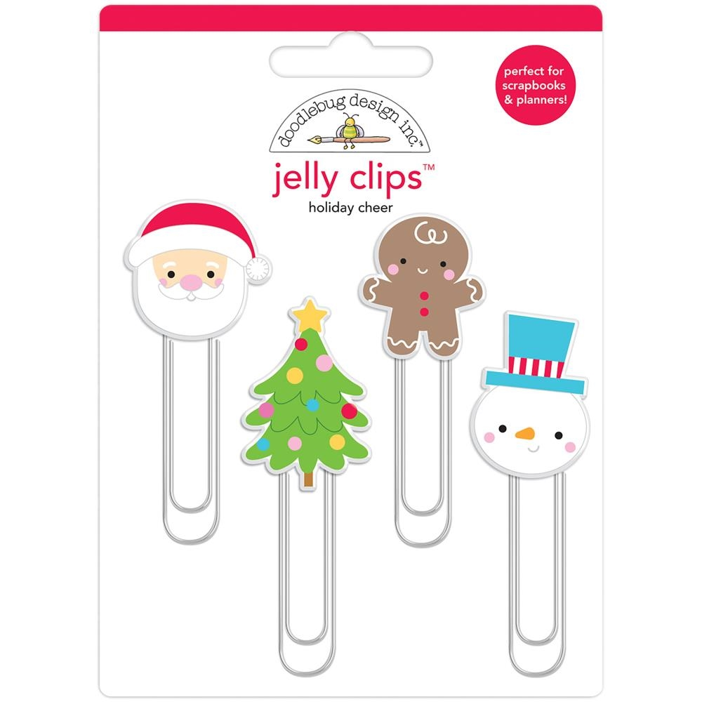 Doodlebug HOLIDAY CHEER Jelly Clips Paper Clip Christmas Town 6163 zoom image