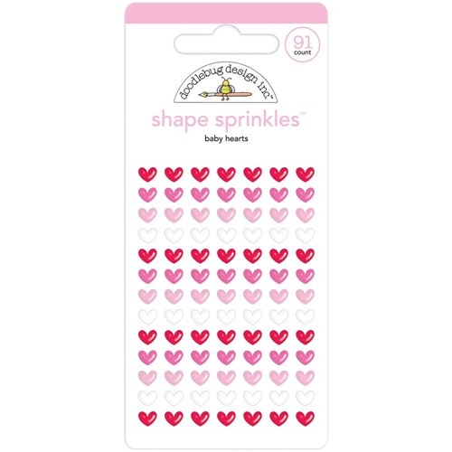 Doodlebug BABY HEARTS Shape Sprinkles Christmas Town 6151 Preview Image