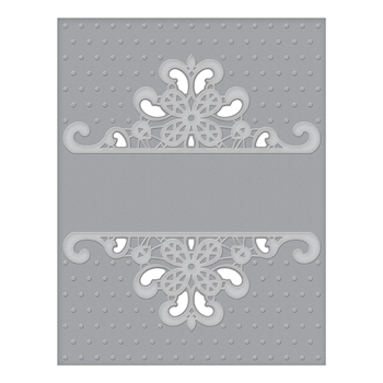 CEF 007 Spellbinders DOTTED LACE Cut and Emboss Folder*
