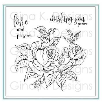 Gina K Designs PEACEFUL ROSES Clear Stamps 3504 zoom image