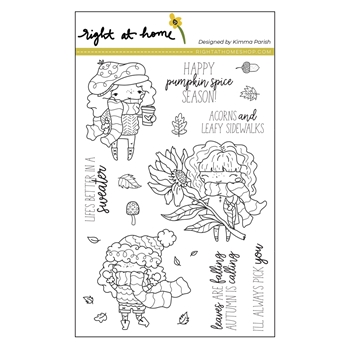 Right At Home PUMPKIN SPICE SEASON Clear Stamps 38216rh