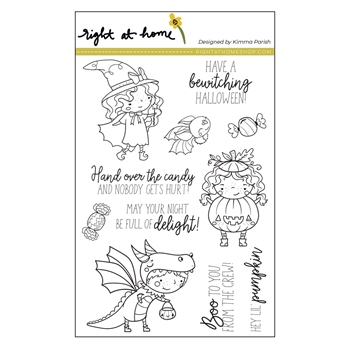 Right At Home BOO CREW Clear Stamps 38230rh*