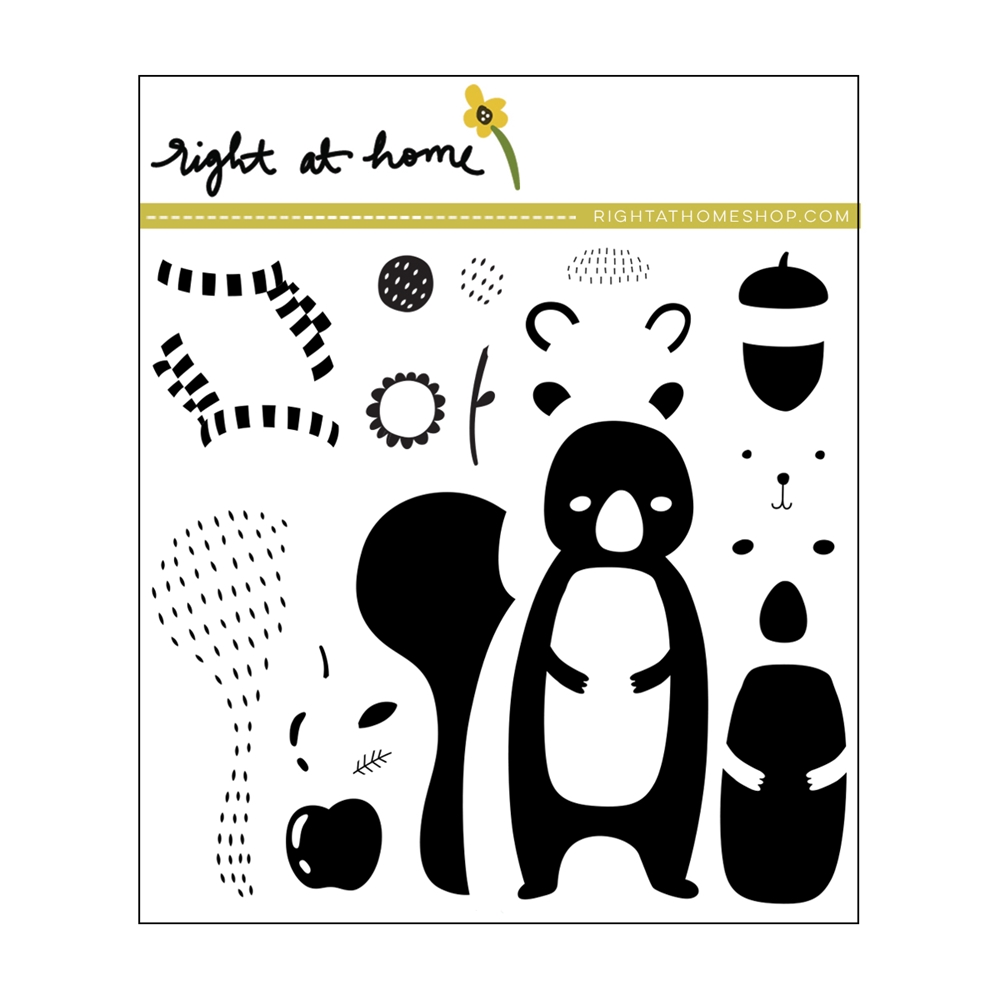 Right At Home SNUGGLY SQUIRREL Clear Stamps 38278rh zoom image