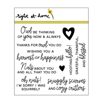 Right At Home CRITTER CHAT Clear Stamps 38315rh