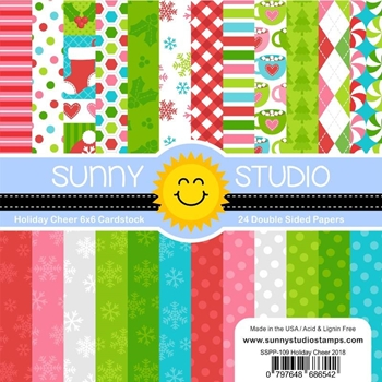 Sunny Studio HOLIDAY CHEER Paper Pad SSPP-109