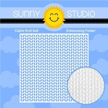 Sunny Studio CABLE KNIT Embossing Folder SSMB-102