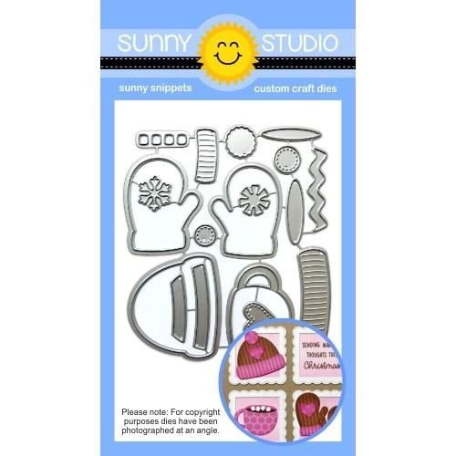 Sunny Studio WARM AND COZY Snippets Dies SSDIE 122 Preview Image