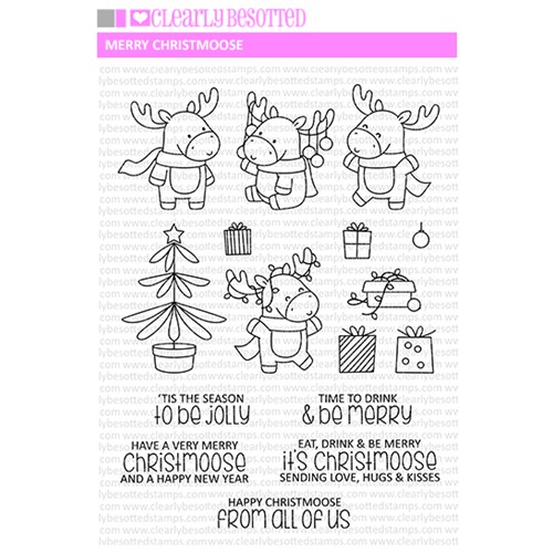 Clearly Besotted MERRY CHRISTMOOSE Clear Stamps Preview Image