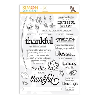 CZ Design Clear Stamps 30 DAYS OF THANKFUL 2018 cz25