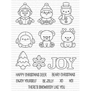 Clearly Besotted WINTER PLUSHIES Clear Stamps