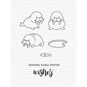 Clearly Besotted WINTER WALRUS Clear Stamps