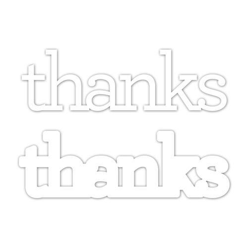CZ Design Wafer Dies THANKS czd34 Thankful Preview Image