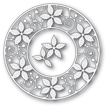Memory Box POINSETTIA CIRCLE FRAME Craft Die 94081