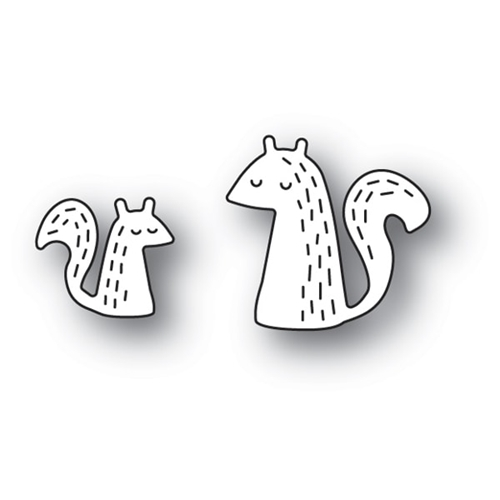 Poppy Stamps WHITTLE SQUIRREL Craft Die 2120 Preview Image