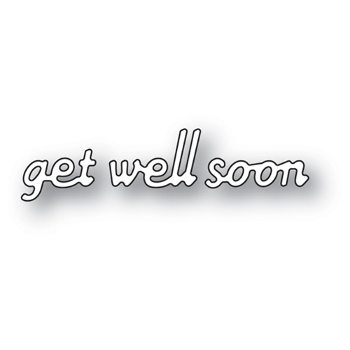 Poppy Stamps SIMPLE GET WELL SOON Craft Die 2140 Preview Image
