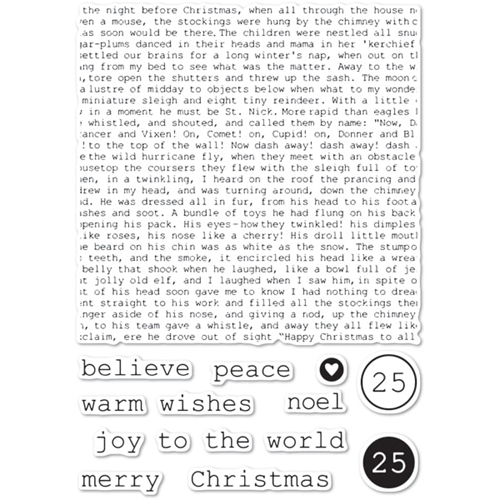 Memory Box Clear Stamps TYPEWRITER HOLIDAY ELEMENTS Open Studio cl5234 Preview Image