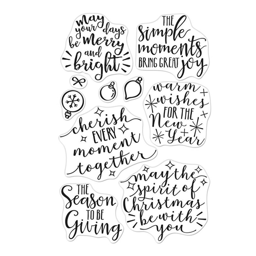 Hero Arts Clear Stamps MERRY AND BRIGHT MESSAGES CM310 Preview Image