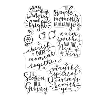 Hero Arts Clear Stamps MERRY AND BRIGHT MESSAGES CM310