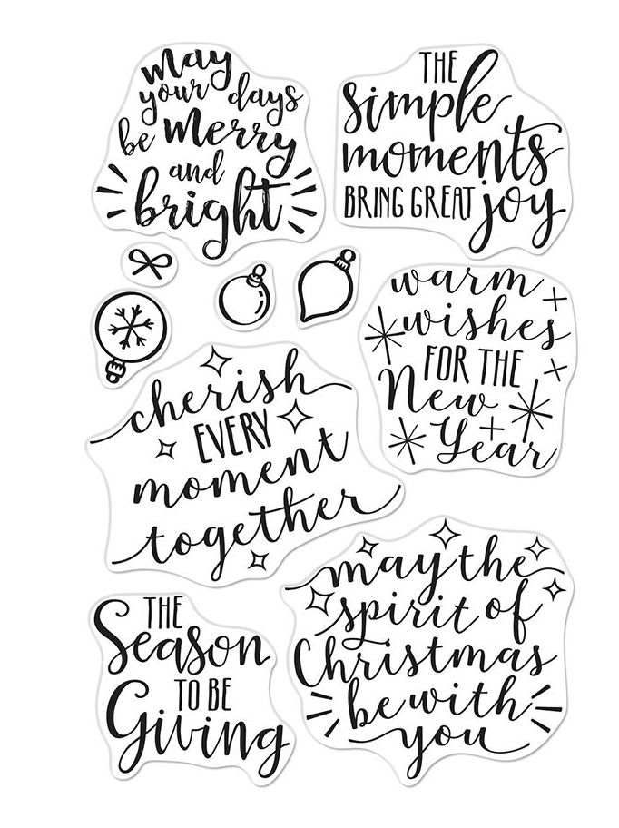 Hero Arts Clear Stamps MERRY AND BRIGHT MESSAGES CM310 zoom image