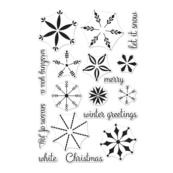 Hero Arts Clear Stamps STACKING SNOWFLAKES CM308