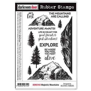 Darkroom Door Cling Stamp MAJESTIC MOUNTAINS ddrs193