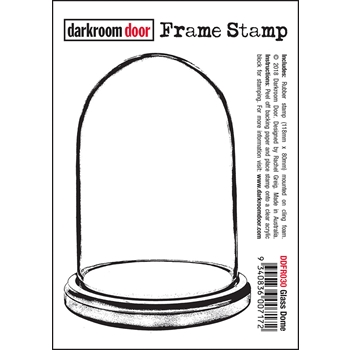 Darkroom Door Cling Stamp GLASS DOME Frame ddfr030