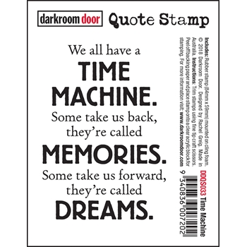 Darkroom Door Cling Stamp TIME MACHINE Quote ddqs033