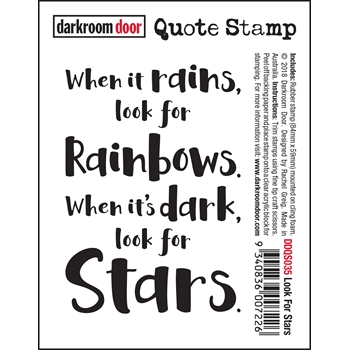 Darkroom Door Cling Stamp LOOK FOR STARS Quote ddqs035