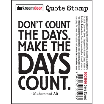 Darkroom Door Cling Stamp DAYS COUNT Quote ddqs036
