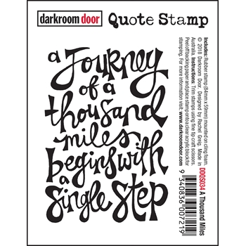 Darkroom Door Cling Stamp A THOUSAND MILES Quote ddqs034