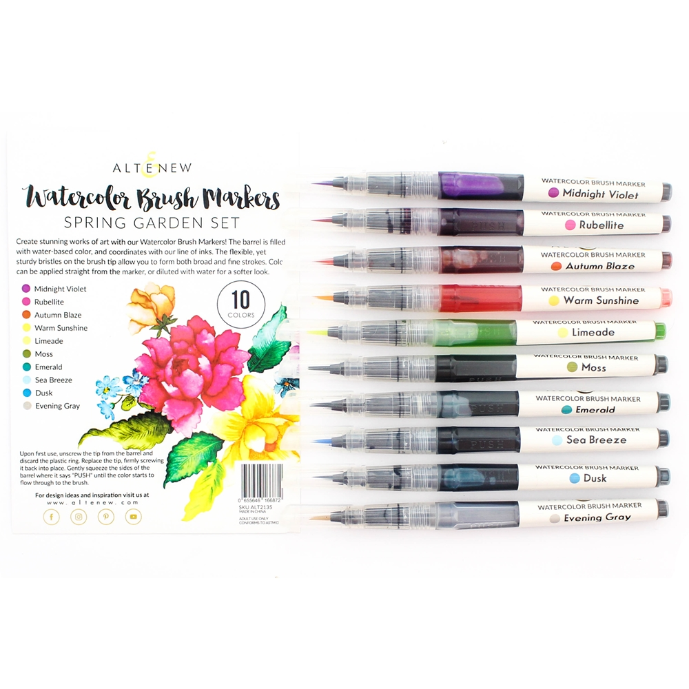 Altenew Watercolor Brush Markers SPRING GARDEN SET ALT2135 zoom image
