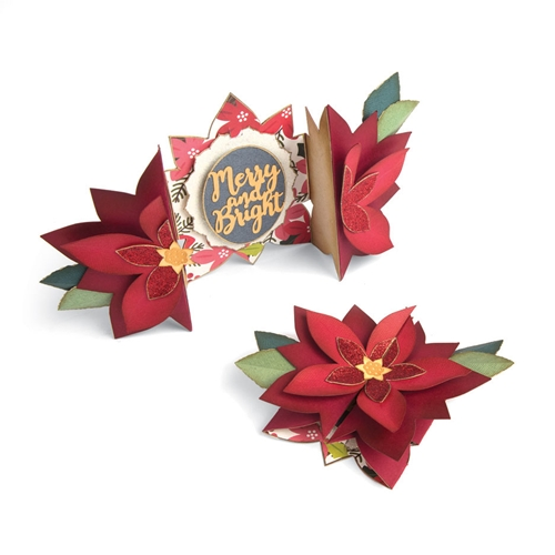 Sizzix POINSETTIA FOLD A LONG Thinlits Die Set 663174 Preview Image