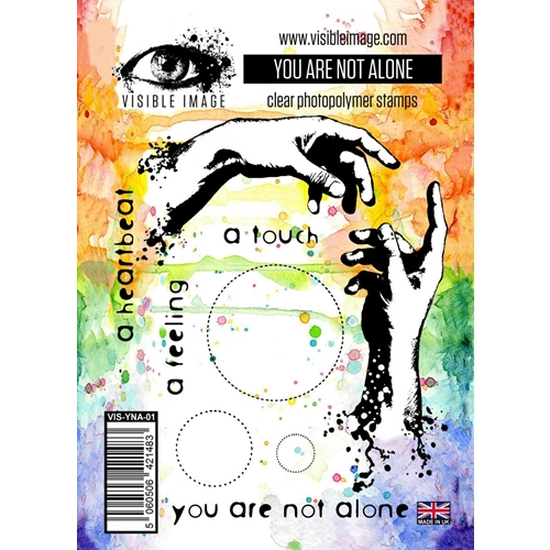 Visible Image YOU ARE NOT ALONE Clear Stamps VIS-YNA-01 Preview Image